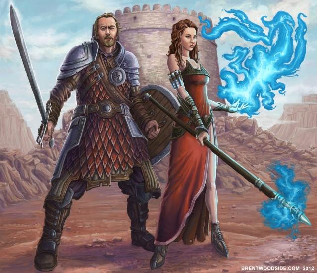 Warrior Couple in Desert
